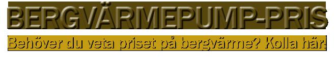Bergvärmepump-pris
